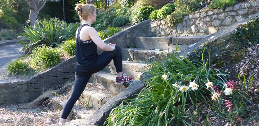 Stretching for Runner Balcrock Athletic Club Dublin