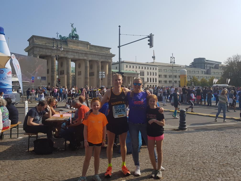 Blackrock A.C. Owen Kelly and family at Berlin Marathon 2021