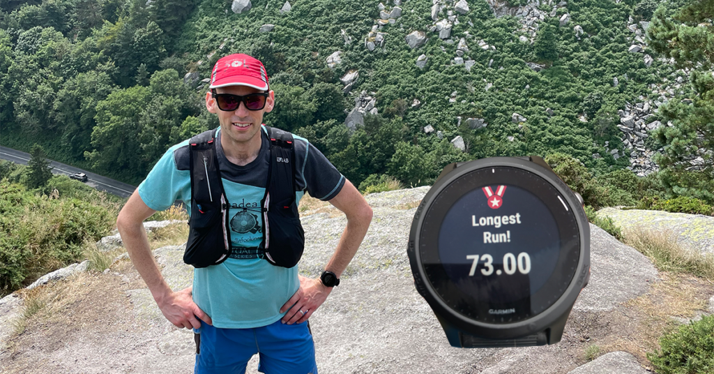 Rob Asher completed a 73km run during his 365 Day Running Streak