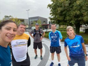 Finishing in UCD after a long run to Greystones and back.
